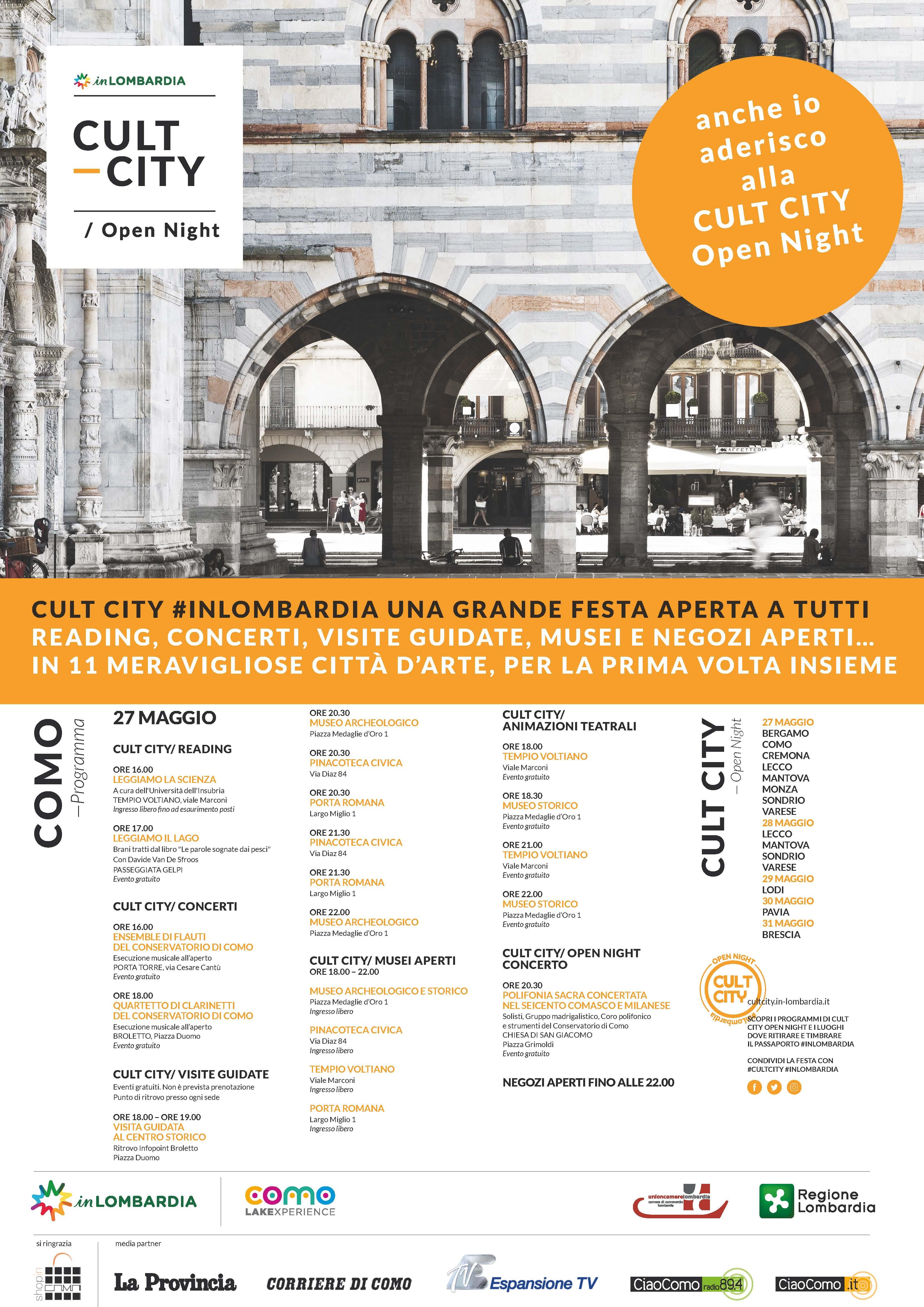 shopincomo; cult city; 27 maggio 2017; aperture serali como; shopping a como